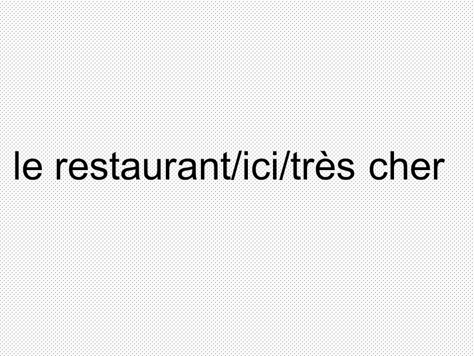 le restaurant/ici/très cher