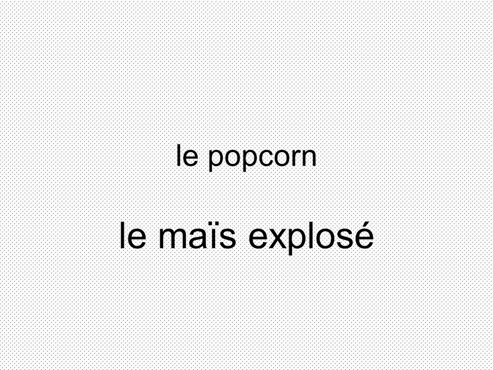 le popcorn le maïs explosé