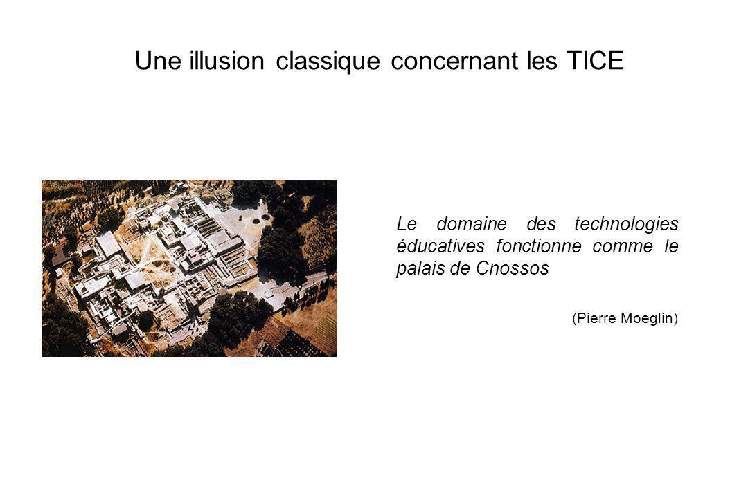 14 Une illusion classique concernant les TICE Le domaine des technologies éducatives fonctionne comme le palais de Cnossos (Pierre Moeglin)
