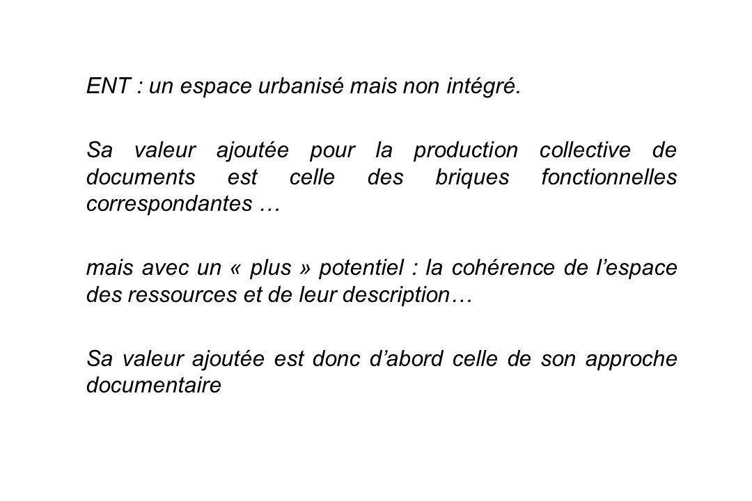 6 ENT : un espace urbanisé mais non intégré.
