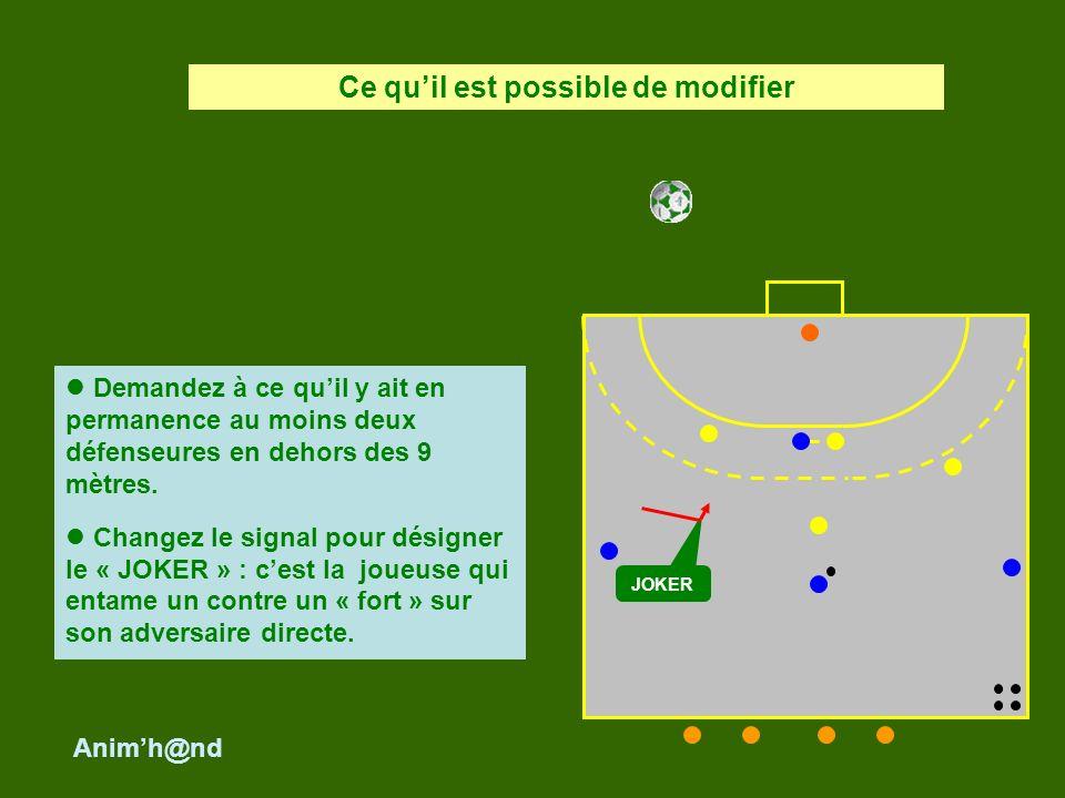En fonction de lintention collective de récupérer la balle, léducatrice interviendra auprès des joueuses afin que leurs actions défensives sinscrivent dans ce projet collectif.