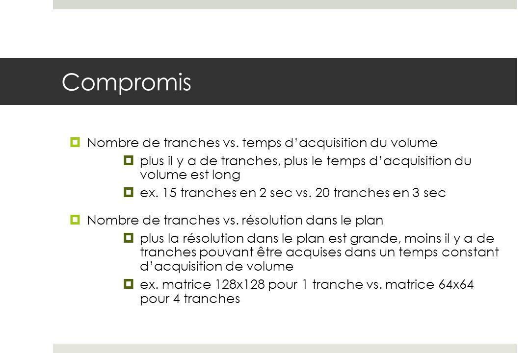 Compromis Nombre de tranches vs.