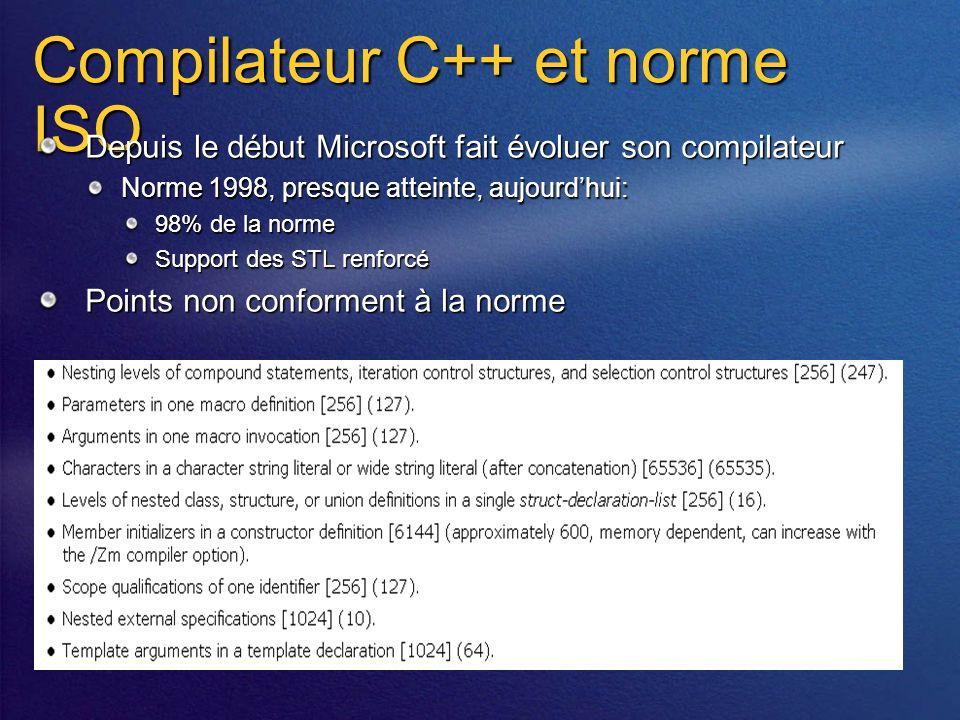 Compiler AssemblyDEVELOPMENTMC++C#J#VBCobol… MSILMetadataResources public static void Main(String[] args ) { String usr; FileStream f; StreamWriter w; try { usr=Environment.GetEnvironmentVariable( USERNAME ); f=new FileStream(C:\\test.txt ,FileMode.Create); w=new StreamWriter(f); w.WriteLine(usr); w.Close(); } catch (Exception e){ Console.WriteLine( Exception: +e.ToString()); } public static void Main(String[] args ) { String usr; FileStream f; StreamWriter w; try { usr=Environment.GetEnvironmentVariable( USERNAME ); f=new FileStream(C:\\test.txt ,FileMode.Create); w=new StreamWriter(f); w.WriteLine(usr); w.Close(); } catch (Exception e){ Console.WriteLine( Exception: +e.ToString()); } Source code Application Directory Global Assembly Cache (GAC) Déploiement AssemblyDEVELOPMENTDEPLOYMENT SetupCopyBrowser Download Cache Install