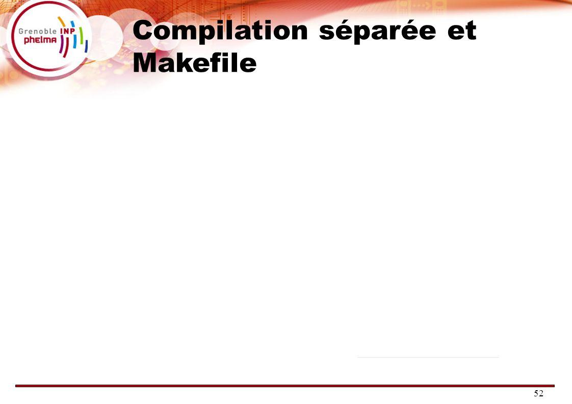52 Compilation séparée et Makefile