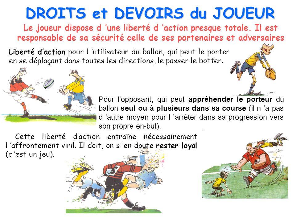 Le HORS-JEU Le hors-jeu vise à préserver le parti pris athlétique du jeu en interdisant à des joueurs de se situer en avant du partenaire porteur de balle pour faire le passage ou recevoir le ballon.