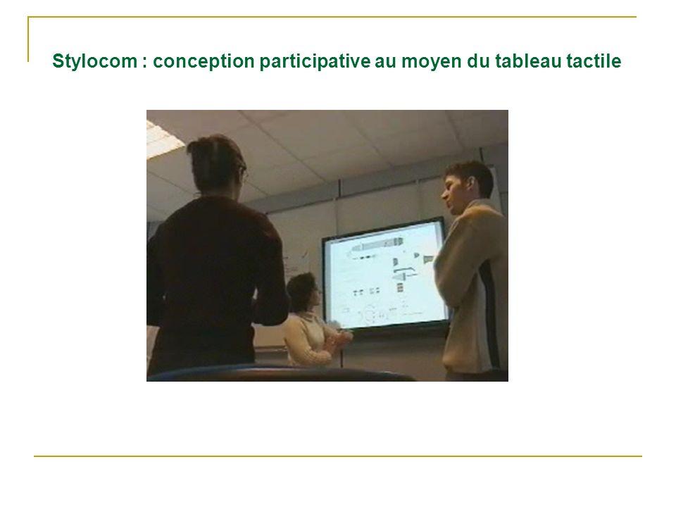 Stylocom : conception participative au moyen du tableau tactile