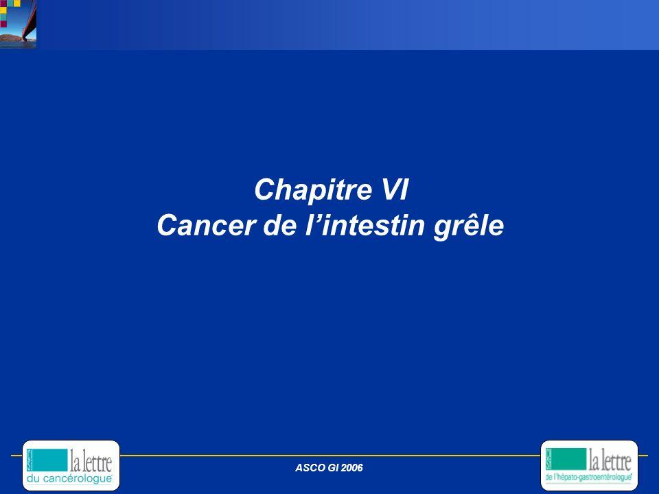 Chapitre VI Cancer de lintestin grêle ASCO GI 2006