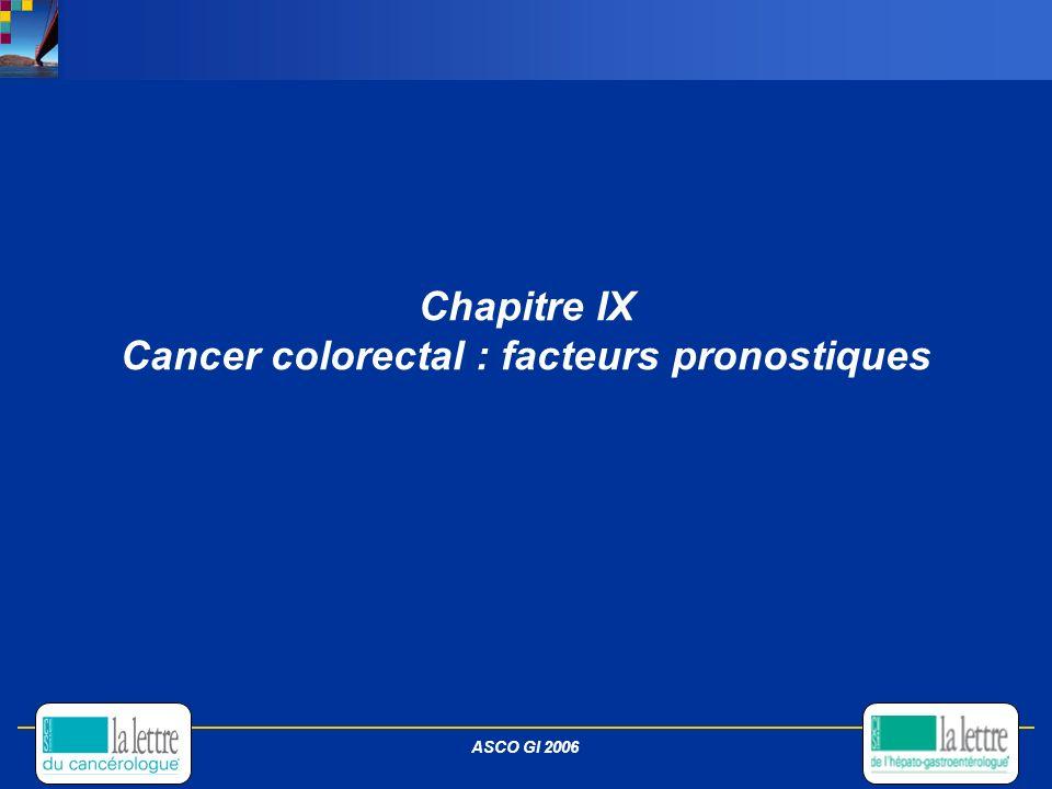 Chapitre IX Cancer colorectal : facteurs pronostiques ASCO GI 2006