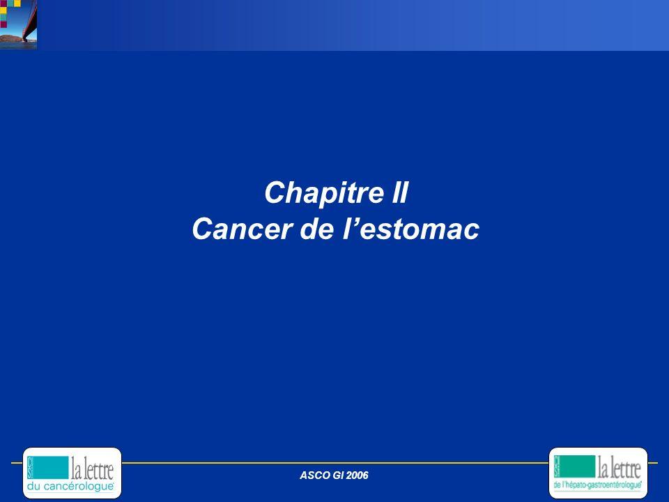 Chapitre II Cancer de lestomac ASCO GI 2006