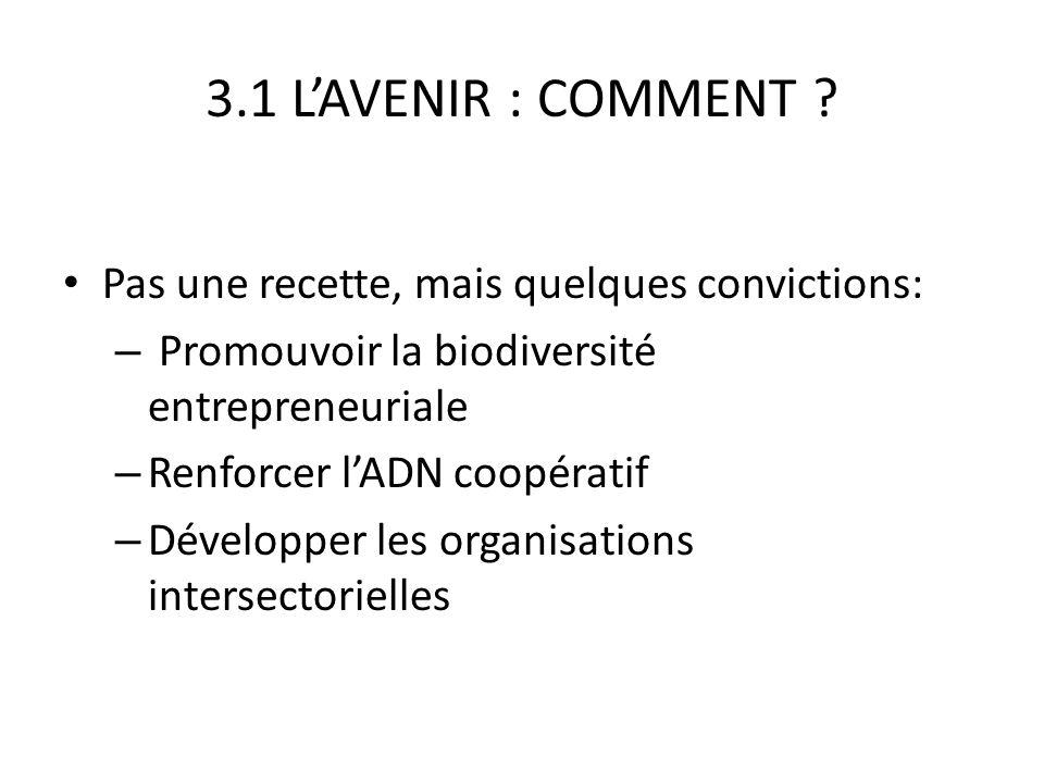 3.1 LAVENIR : COMMENT .