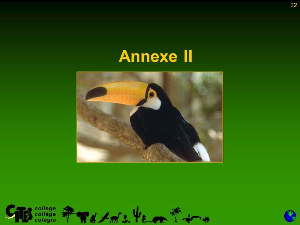 22 Annexe II