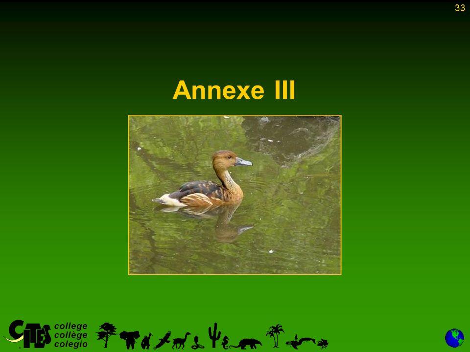33 Annexe III