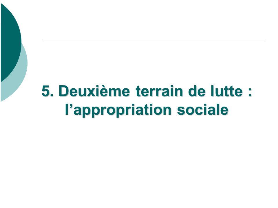 5. Deuxième terrain de lutte : lappropriation sociale 5.
