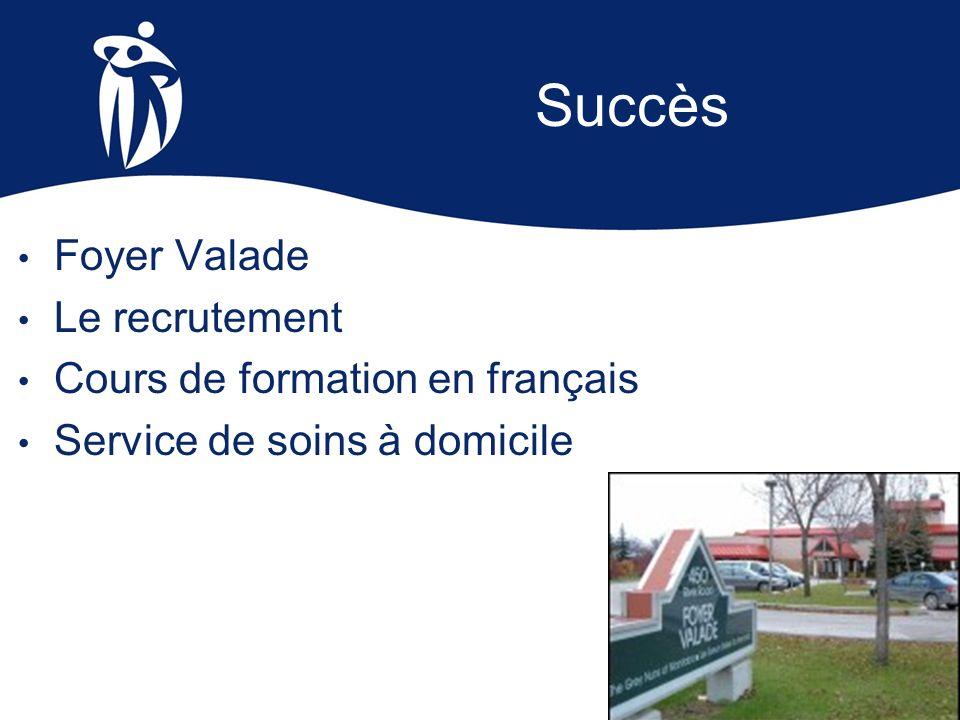 Succès Foyer Valade Le recrutement Cours de formation en français Service de soins à domicile