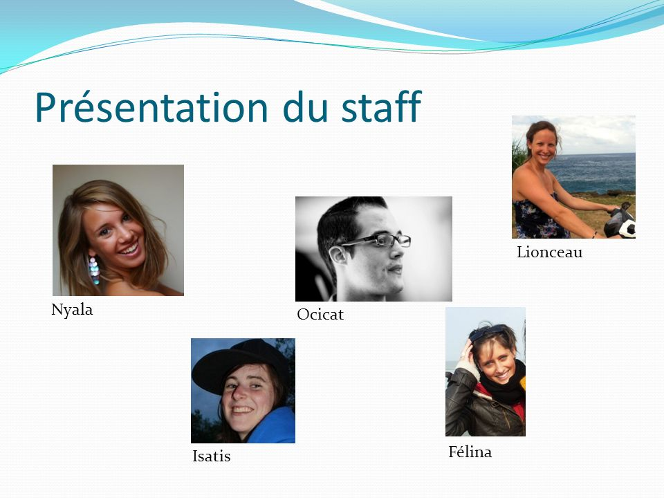 Présentation du staff Nyala Isatis Ocicat Félina Lionceau