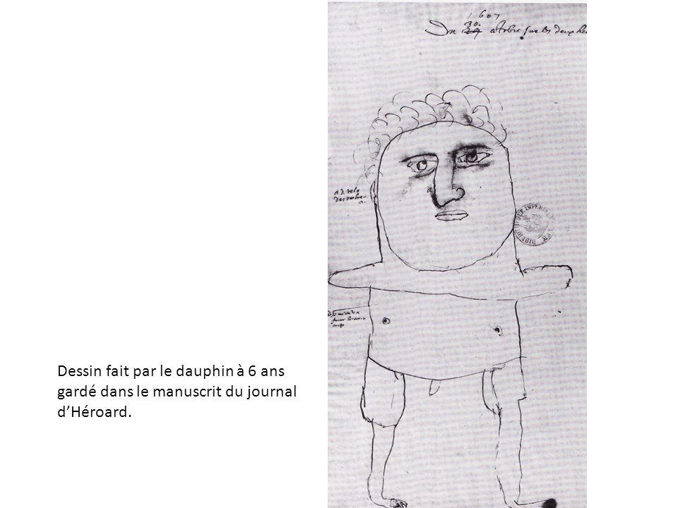 Dessin fait par le dauphin à 6 ans gardé dans le manuscrit du journal dHéroard.