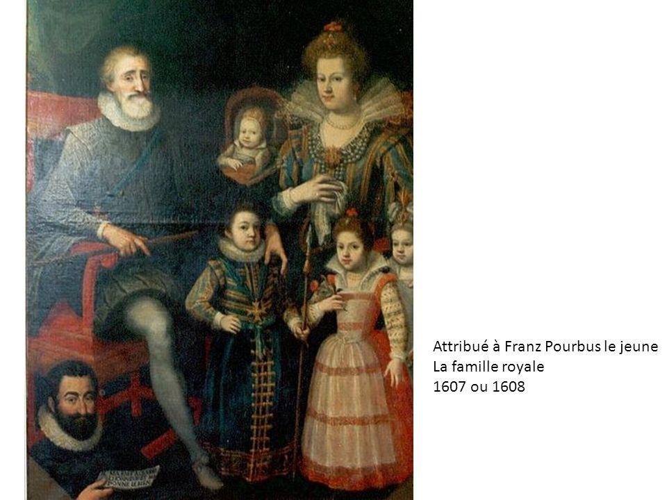 Attribué à Franz Pourbus le jeune La famille royale 1607 ou 1608