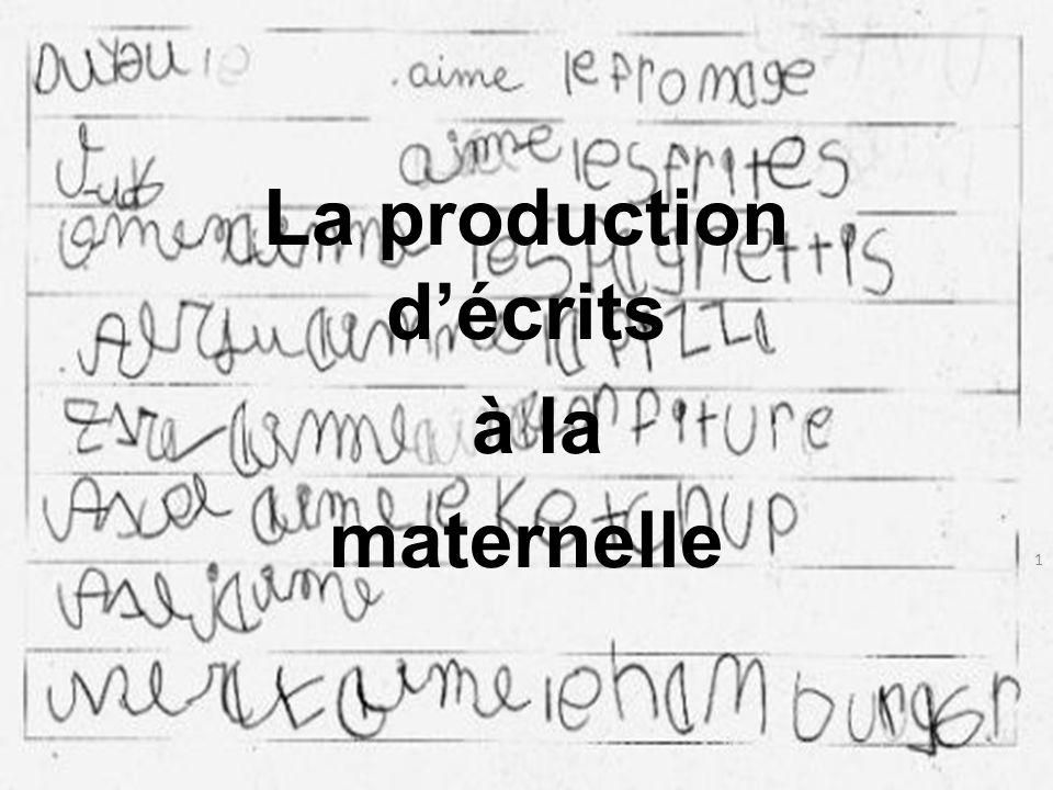 La production décrits à la maternelle 1