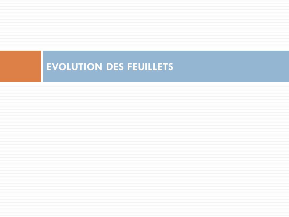 EVOLUTION DES FEUILLETS