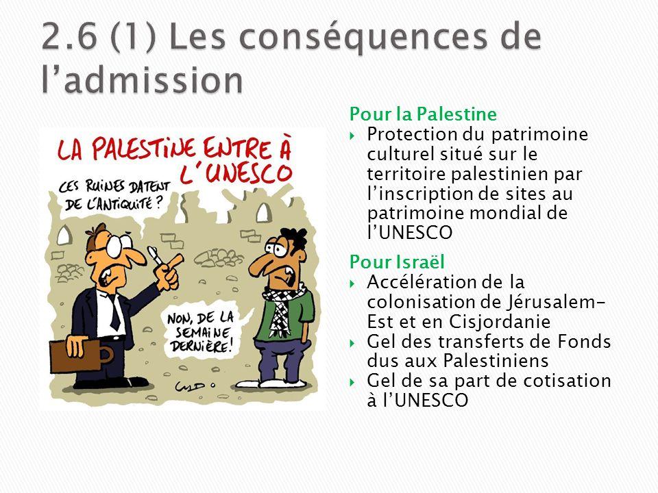 Pour la Palestine Protection du patrimoine culturel situé sur le territoire palestinien par linscription de sites au patrimoine mondial de lUNESCO Pou
