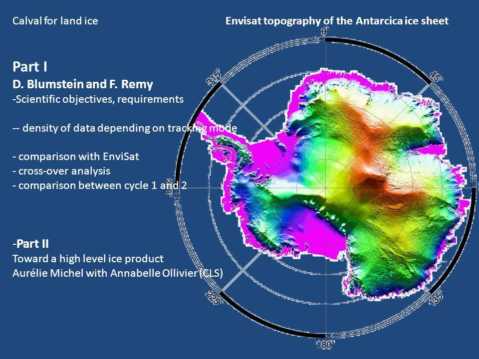 Scientific objective : ice sheet mass balance.