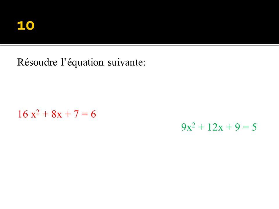 Factoriser : 16x 2 + 40x +25 (2x + 5) 2 – (3x + 2) 2