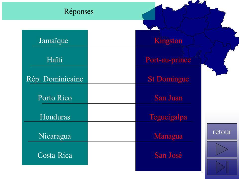 Quels sont les capitales des pays suivants .Panama Colombie Venezuela Guyana Surinam Gyane Fr.