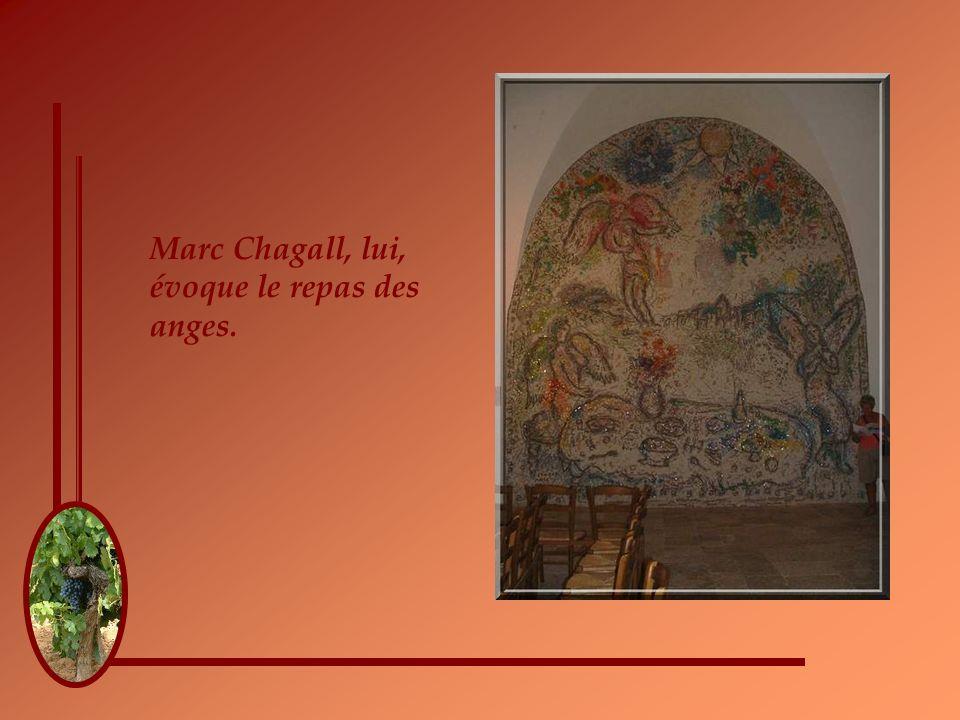 Diégo Giacometti, en plus de produire un lutrin en forme darbuste, réalise ce bas-relief en bronze pour illustrer le miracle des roses dans le tablier