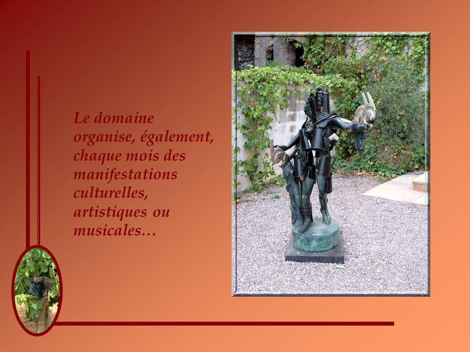 Le domaine organise, également, chaque mois des manifestations culturelles, artistiques ou musicales…