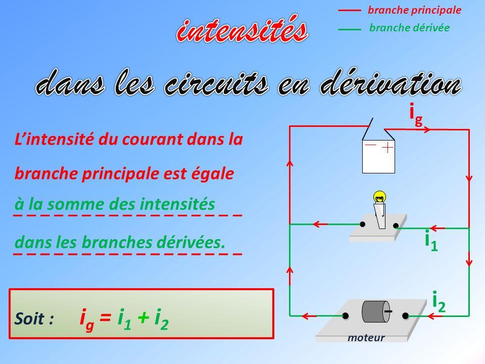 moteur i1i1 igig i2i2 Lintensité du courant dans la branche principale est égale _ _ _ _ _ _ _ _ _ _ _ _ _ _ _ _ _ _ _ _ _ _ _ _ _ _ _ _ _ _ _ _ _ _ à