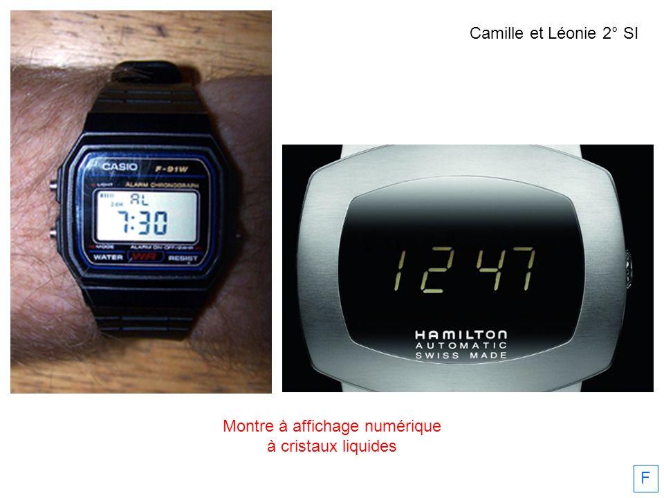 Montre à affichage numérique à cristaux liquides F Camille et Léonie 2° SI