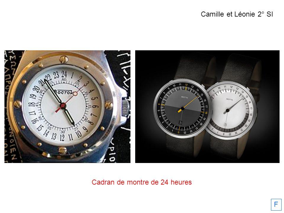 Cadran de montre de 24 heures F Camille et Léonie 2° SI