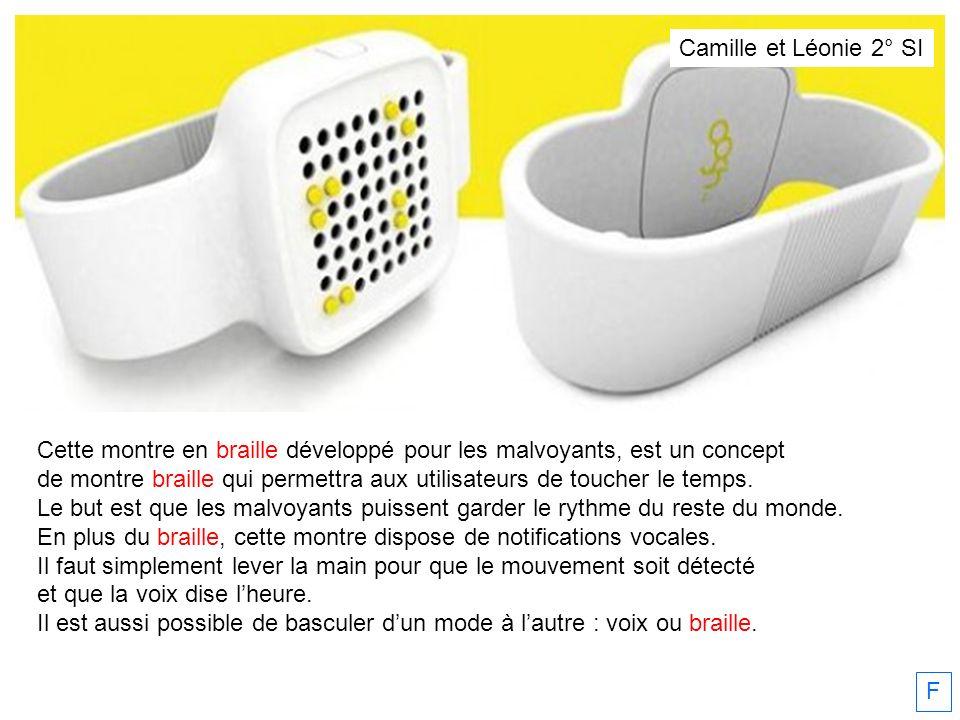 Cette montre en braille développé pour les malvoyants, est un concept de montre braille qui permettra aux utilisateurs de toucher le temps. Le but est