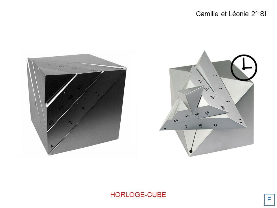 HORLOGE-CUBE F Camille et Léonie 2° SI