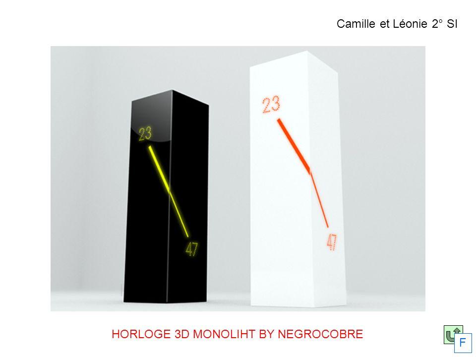 HORLOGE 3D MONOLIHT BY NEGROCOBRE F Camille et Léonie 2° SI
