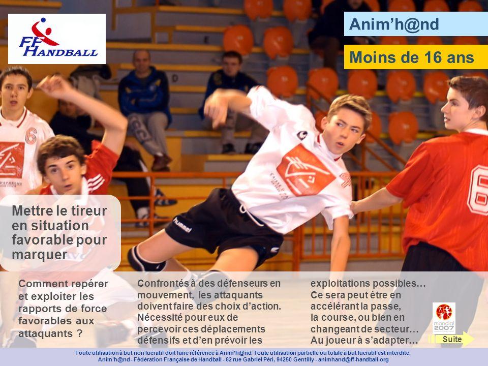 Animh@nd Posez 2 balises à 9 m et composez des groupes de 3 joueurs.