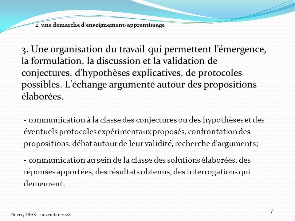 Thierry DIAS – novembre 2008 18 LESCALIER DES DIFFERENCES