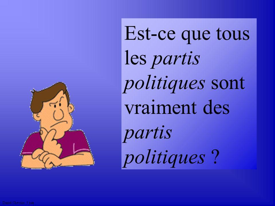 Est-ce que tous les partis politiques sont vraiment des partis politiques