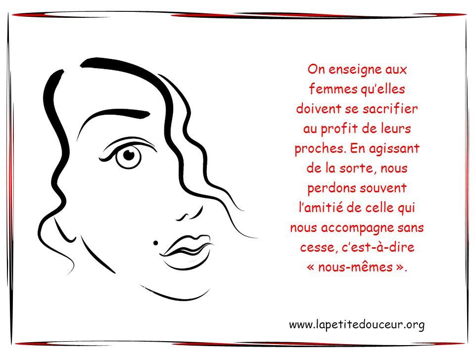 Nicole Charest © www.lapetitedouceur.org Cliquez pour avancer « Une femme étrangère à elle-même est aussi étrangère aux autres.