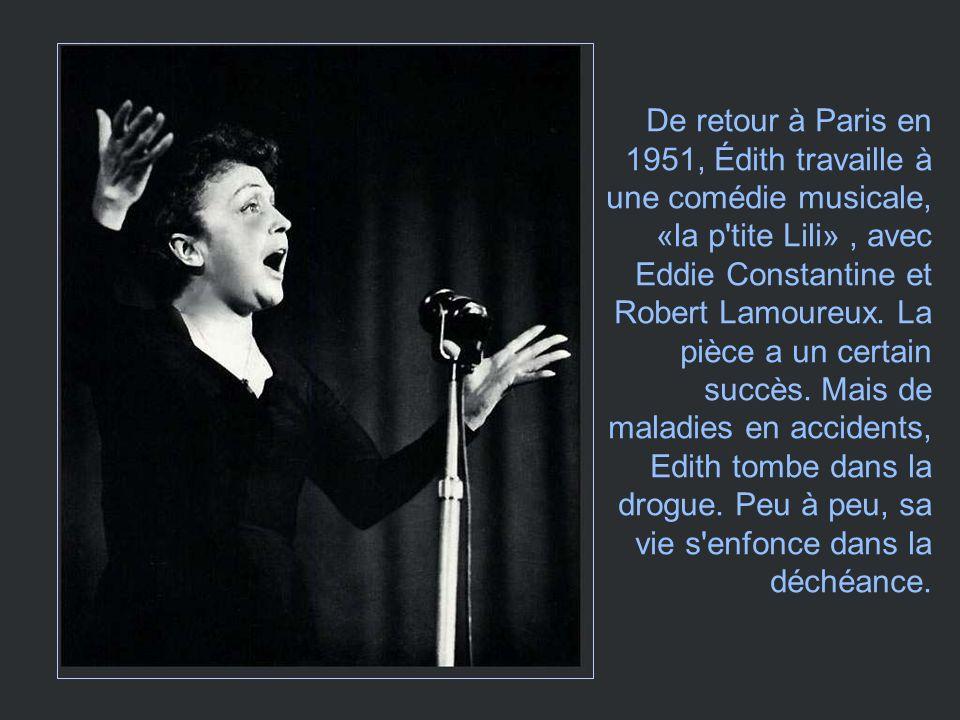 En 1950 Édith retourne à New York, pour y donner une série de concerts. Elle se fait accompagner par un acteur américain dorigine grecque, qui séjourn