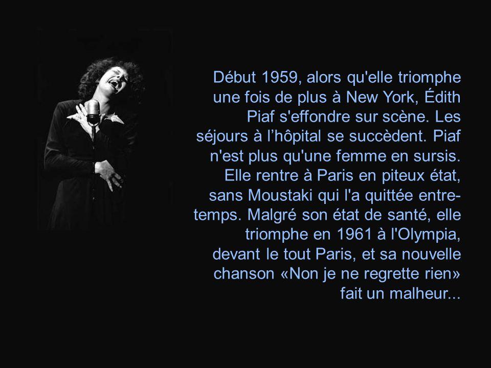 En 1956 cest le divorce davec Jacques Pills. Un certain Georges Moustaki, devient alors son amant et débute dans la chanson. Ensemble, ils ont un grav