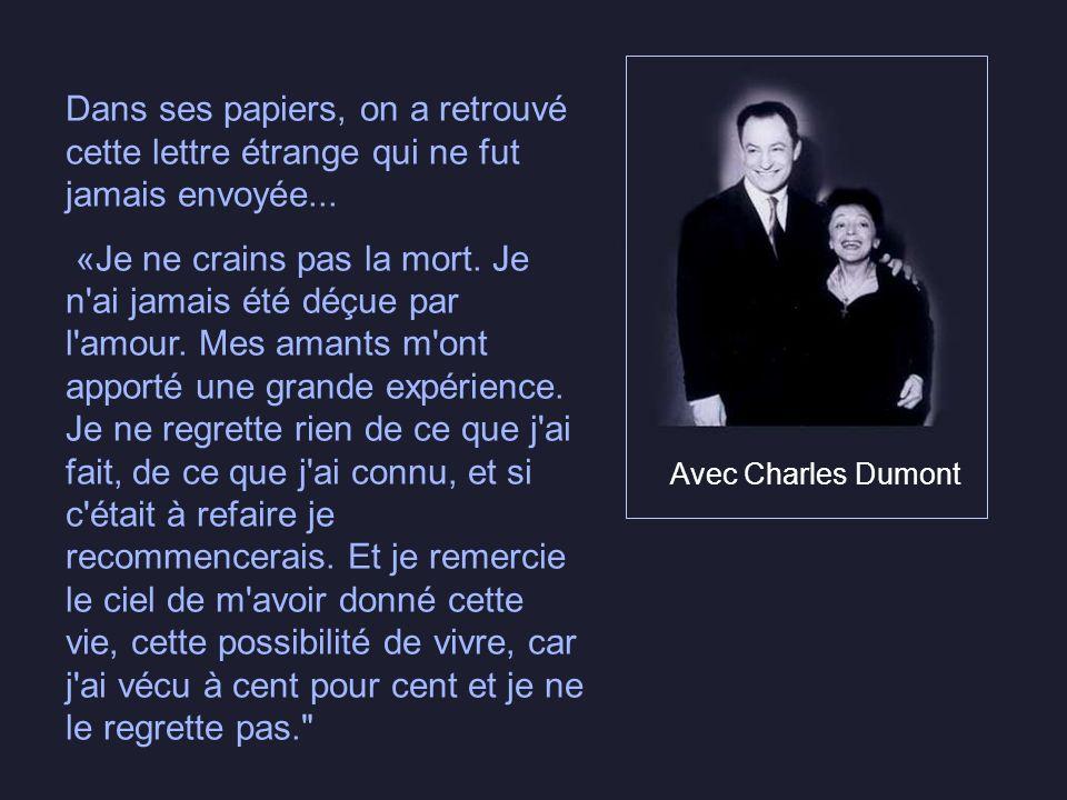 Avec Jacques Pills et Jean Drapeau, maire de Montréal Édith Piaf, dite «la môme Piaf», est déjà entrée dans la légende...et plus rien ne pourra len re