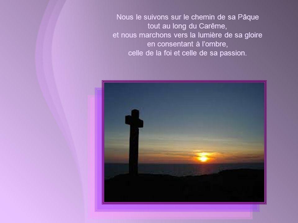 LÉglise sécrie aujourdhui : « Le Seigneur est ma lumière et mon salut ! » LÉglise, cest-à-dire nous tous. Car nous sommes tous appelés à suivre Jésus