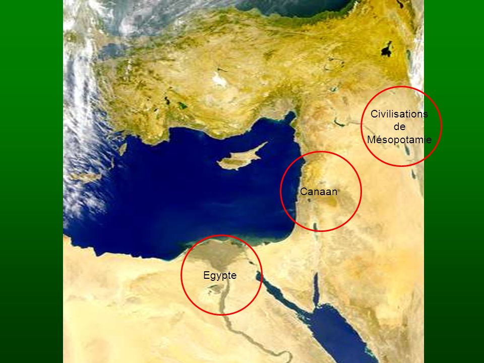 Civilisations de Mésopotamie CanaanEgypte