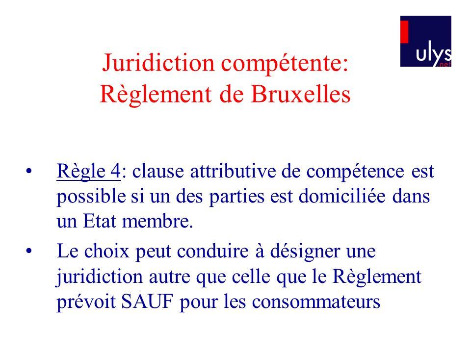 Loi applicable – obligations contractuelles – Convention de Rome Principe dautonomie pour tout ou parties du contrat.