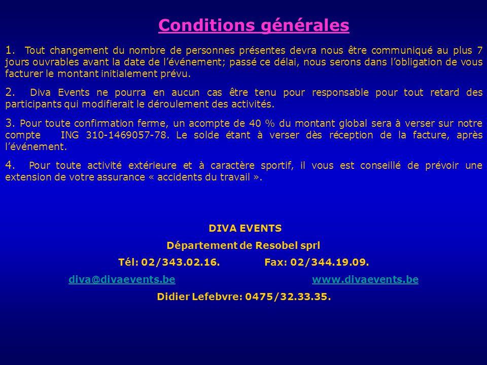 Conditions générales 1.