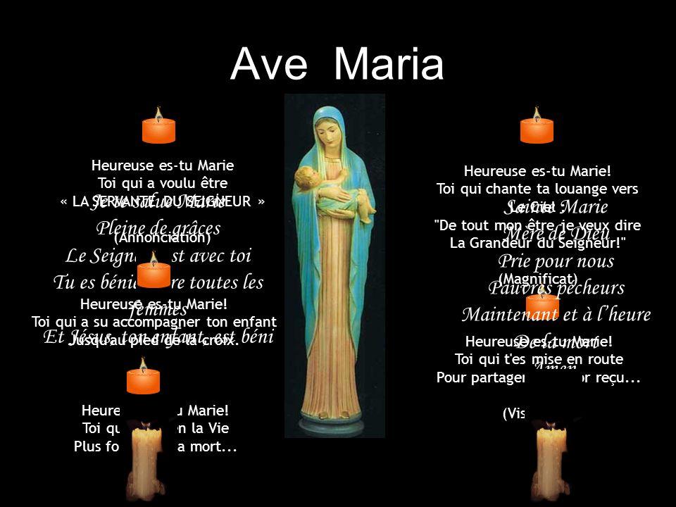 Heureuse celle qui a cru (Luc 1:45) Méditation avec Marie Diaporama automatique sur fond musical AVE MARIA DE SCHUBERT Création lepuidamour.com+