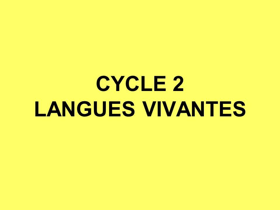CYCLE 2 LANGUES VIVANTES