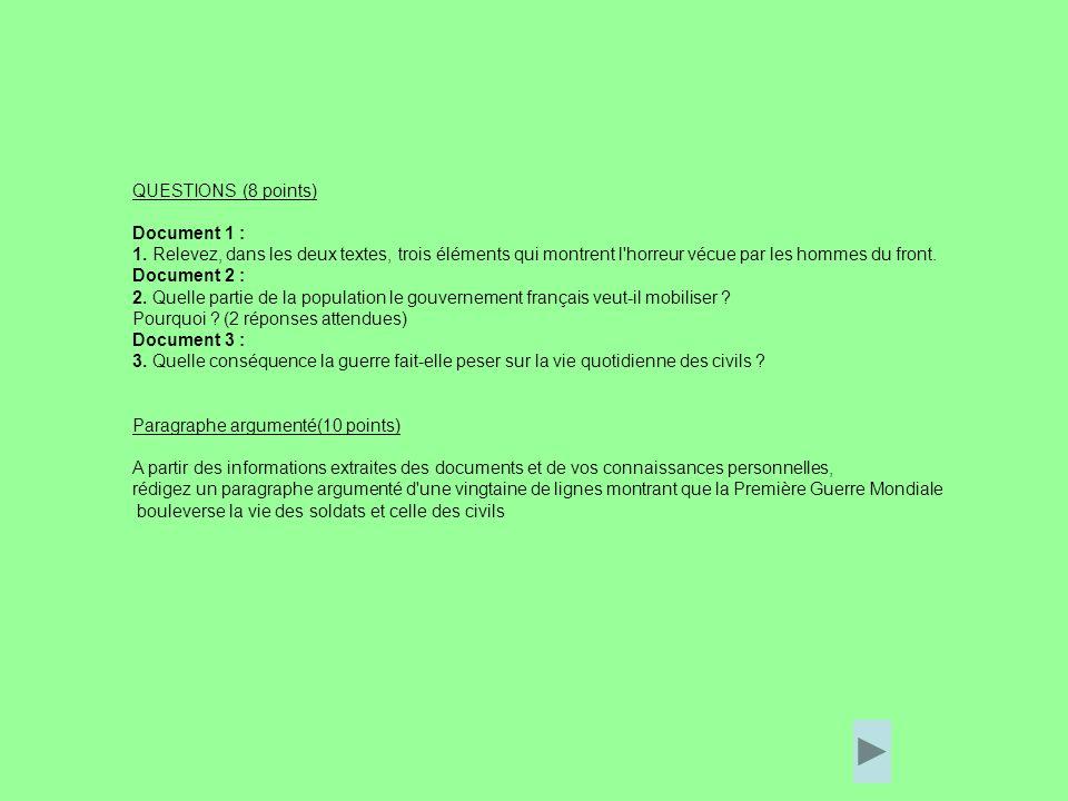 QUESTIONS (8 points) Document 1 : 1.