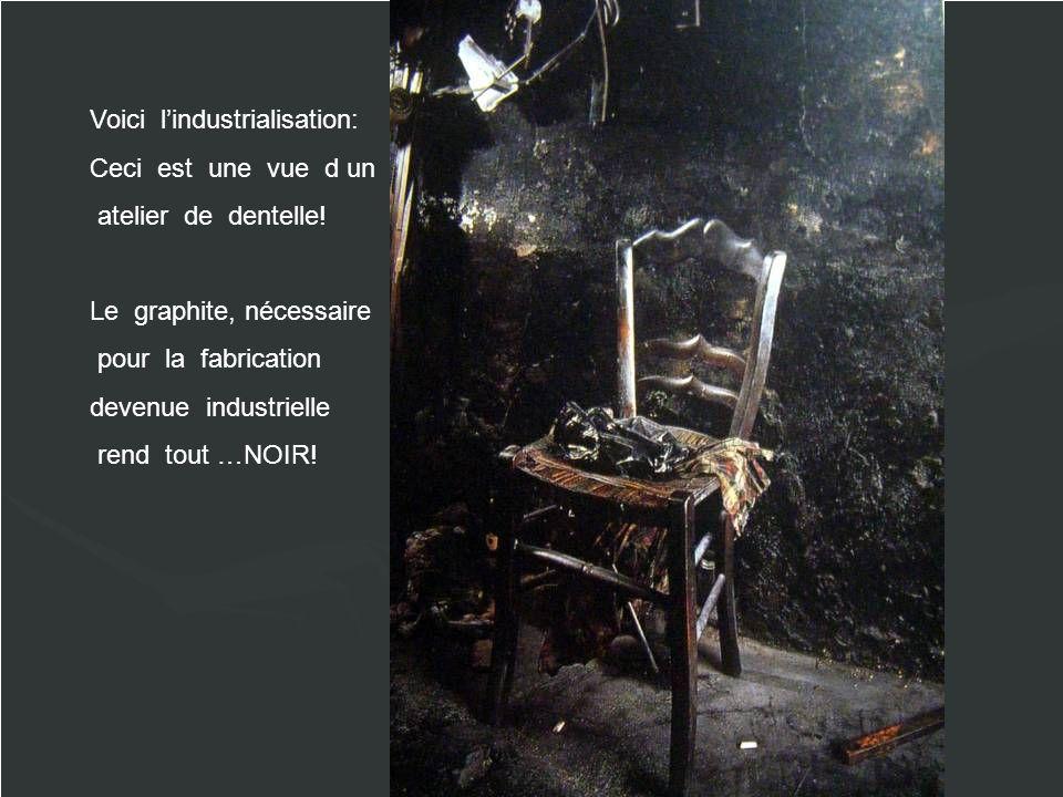 Voici lindustrialisation: Ceci est une vue d un atelier de dentelle.